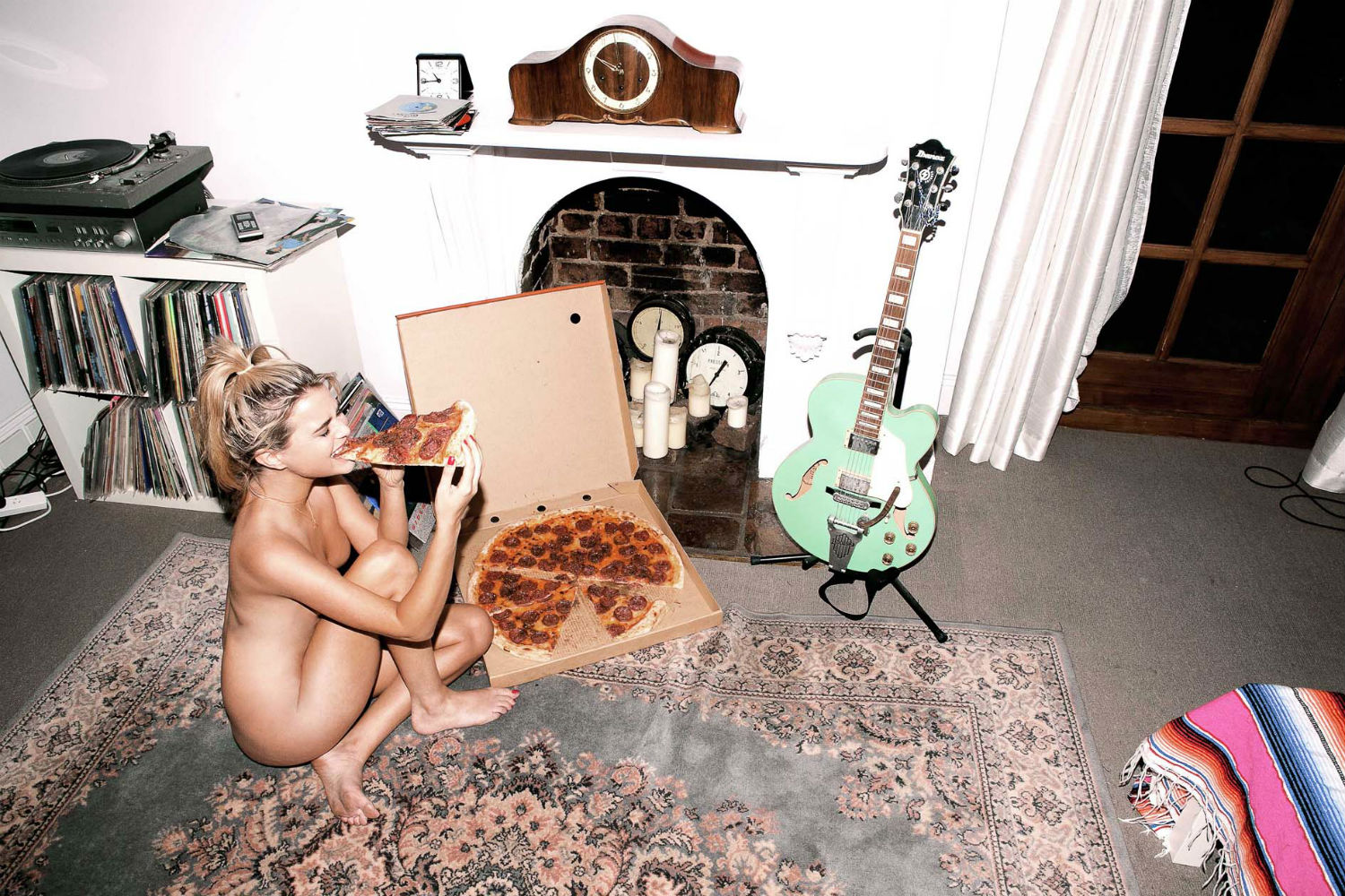 sarah bahbah erotic photography food sex model nude pizza
