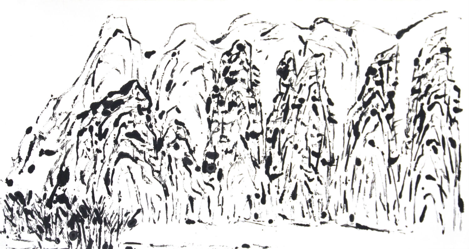 tian haisu chinese artist landscape traditional ink rolerrblades