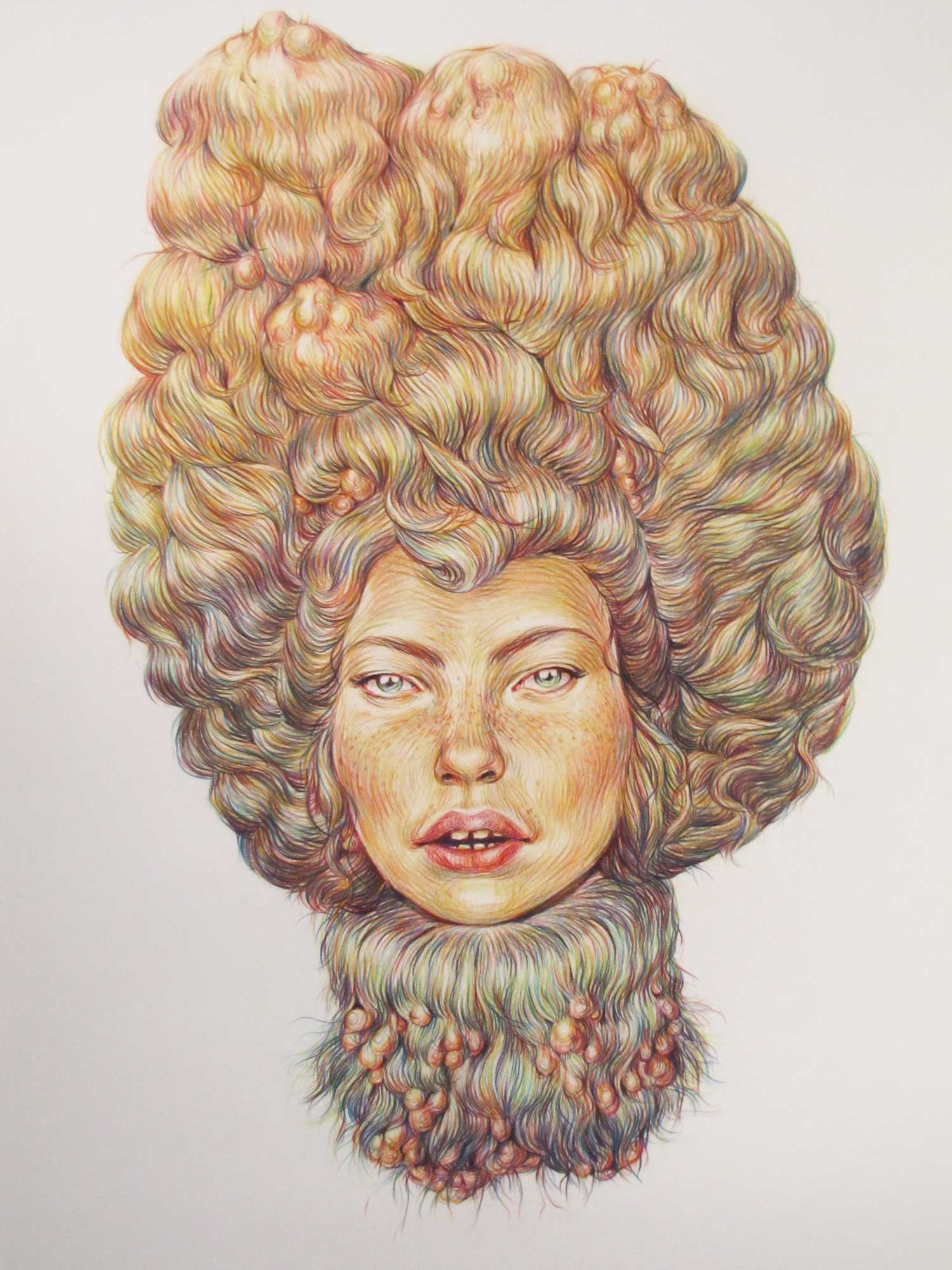 winnie truong moulded hair illustration infected hair