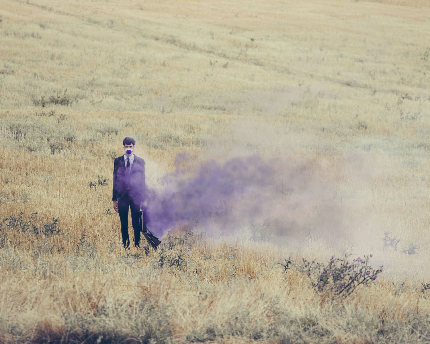 jairo alvarez photography surreal imagery colour odd illusion purple smoke