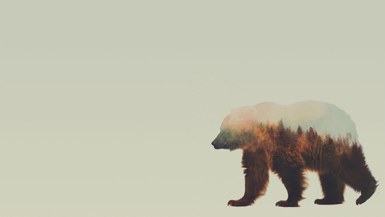 andreas lie double exposure animals bear