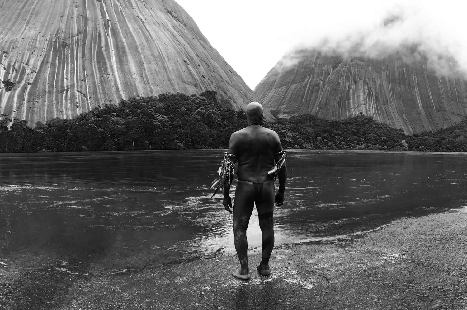 indian in front of volcano, Embrace of the Serpent
