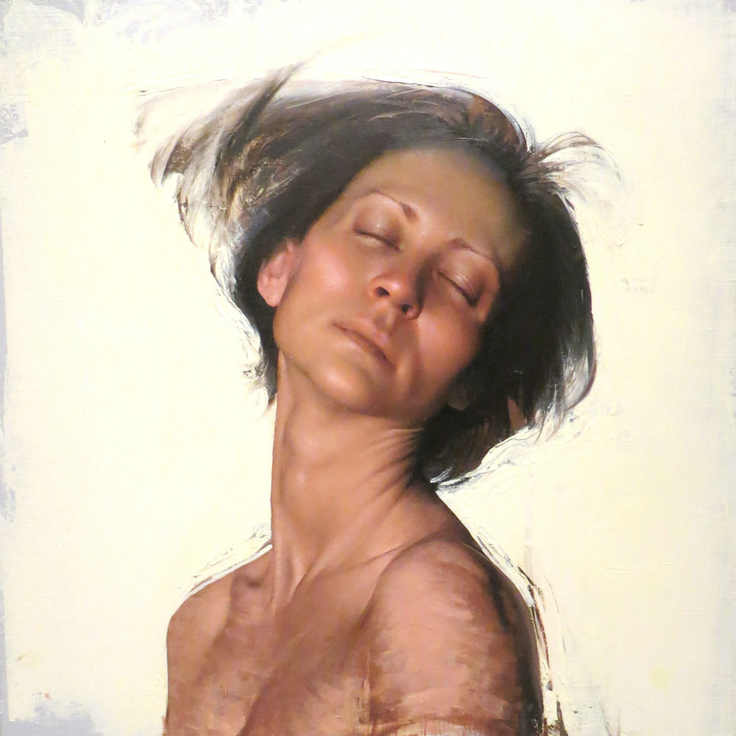 daniel sprick painting hyperreal portrait