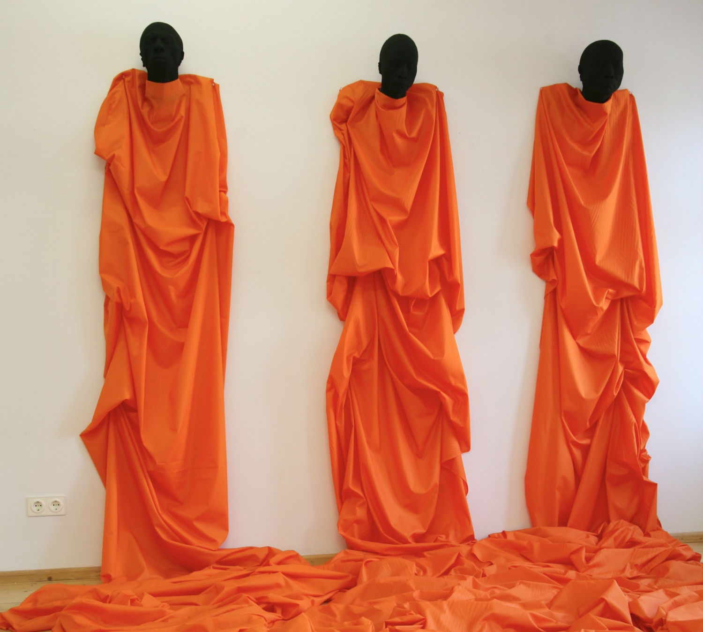wolfgang stillman artist sculpture abstract orange robe