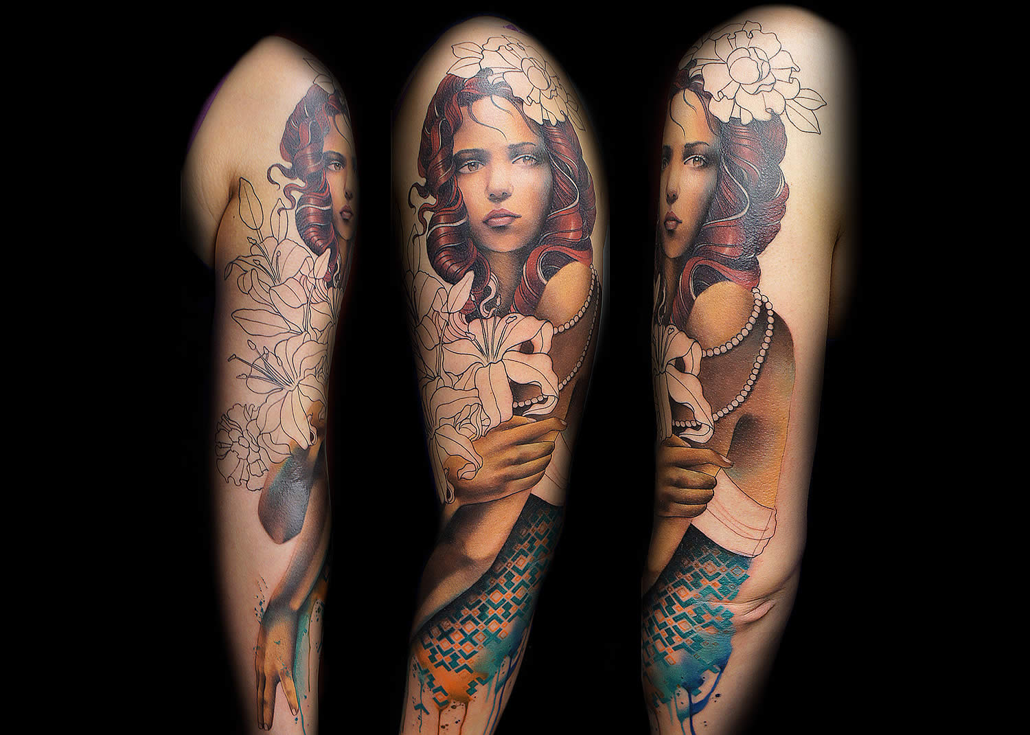woman portrait sleeve by jay freestyle