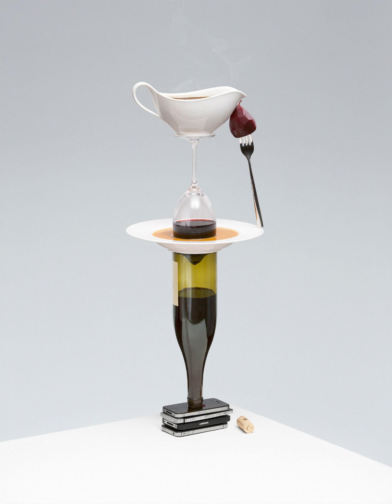 lernert and sander design dutch illusion food drink colour surreal wine