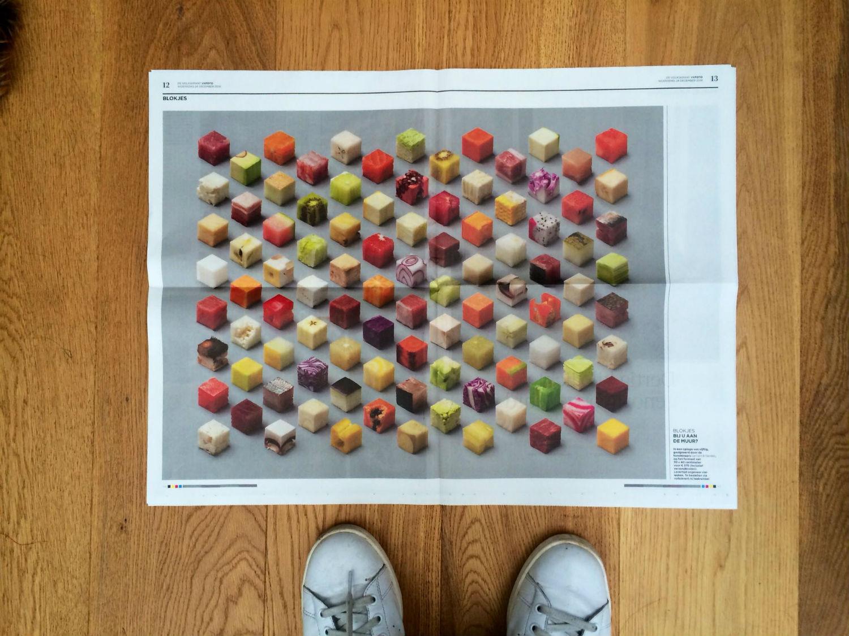 lernert and sander design dutch illusion food drink colour surreal newspaper