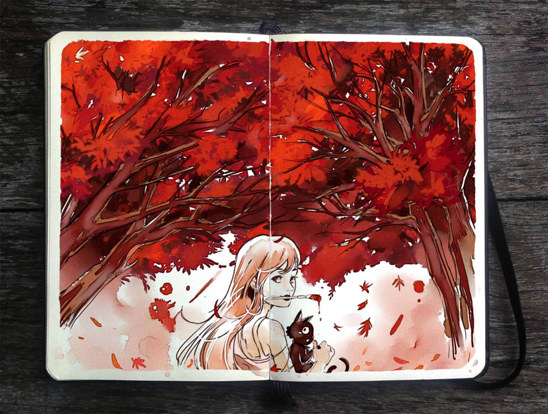 ed forest moleskine art by gabriel picolo