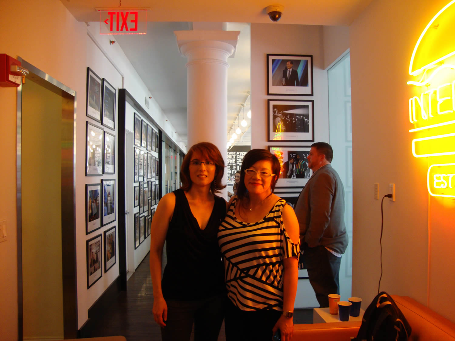 Scene 360: Adriana (editor-in-chief) and Jenny (contributing editor) at the Webby office