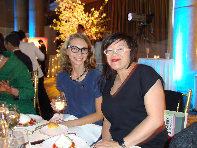 jenny at the webby gala