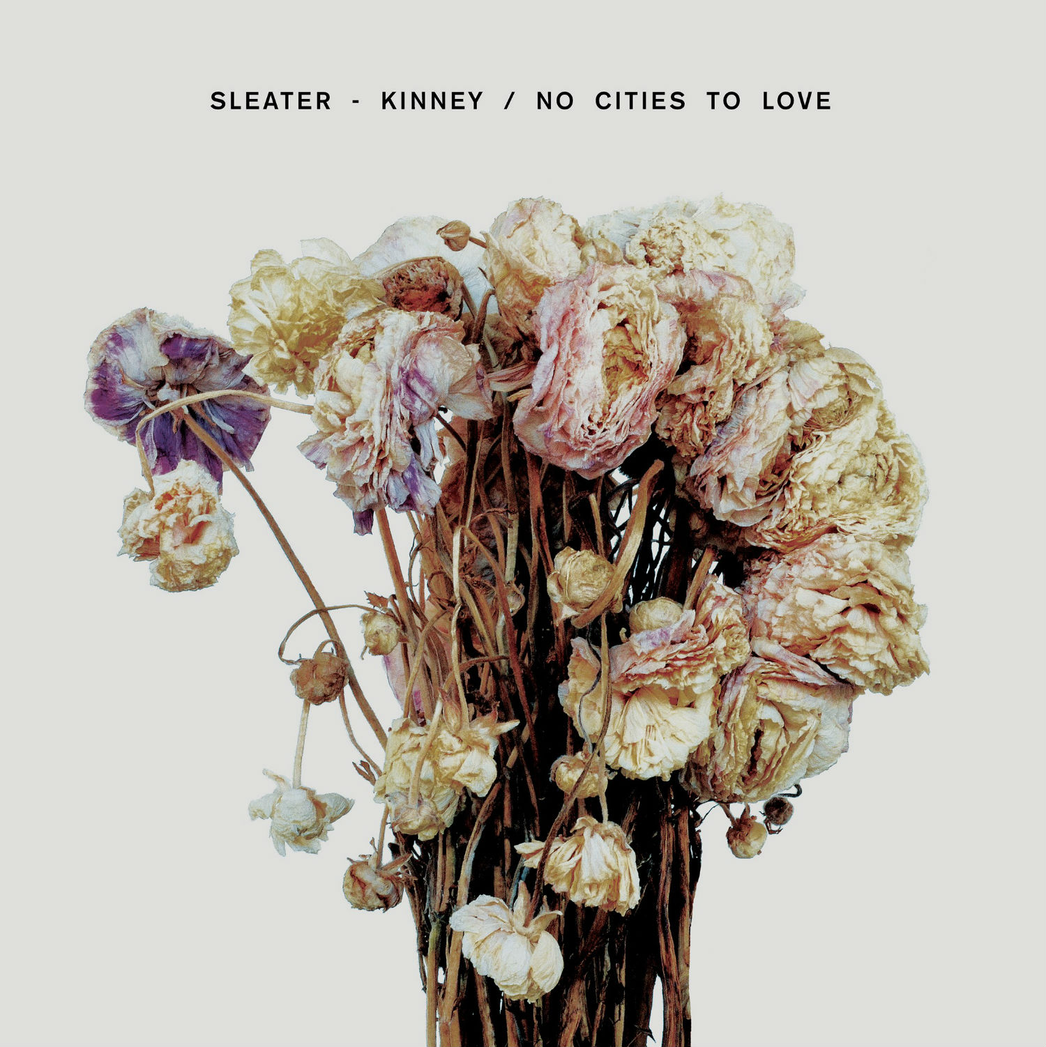 sleater kinney no cities to love cover flowers dying