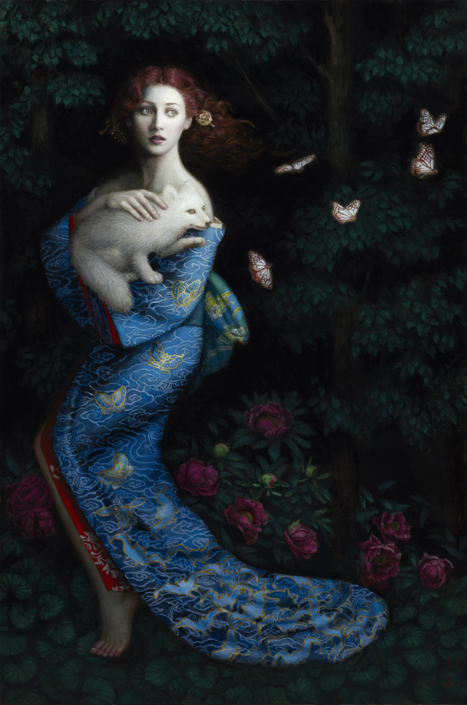chie yoshi fantasy paintings colour exotic woman