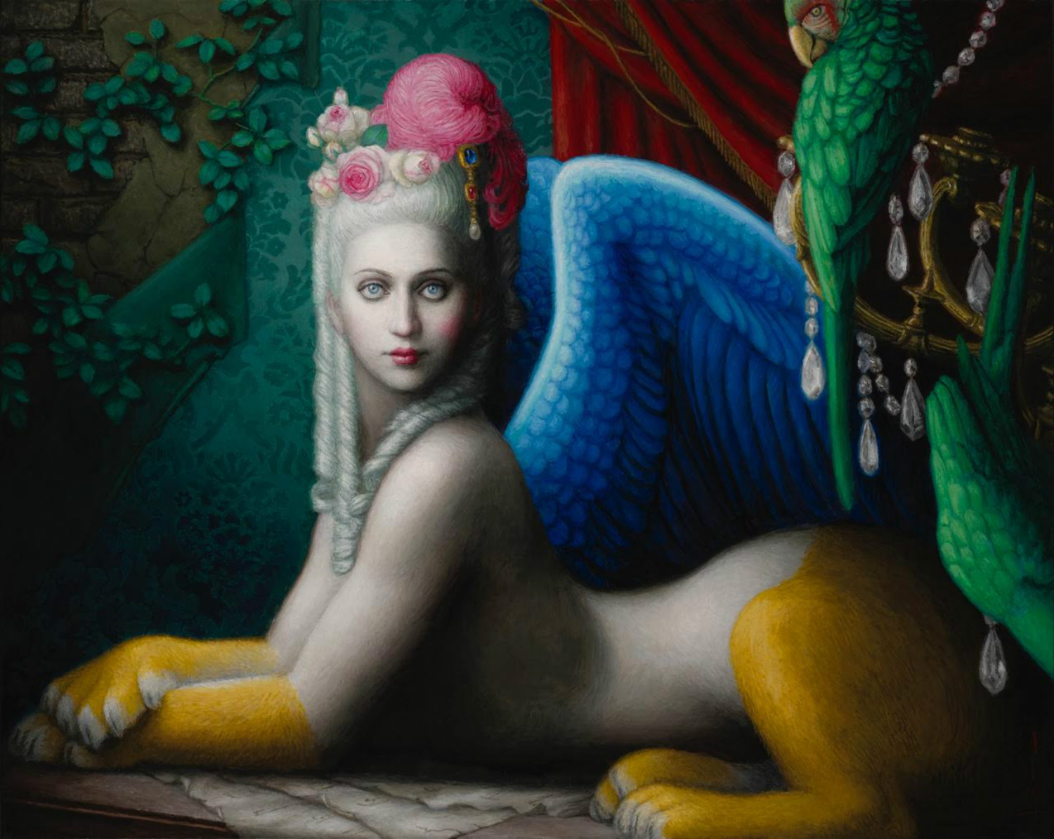 chie yoshi fantasy paintings colour exotic sphinx marie antoinette