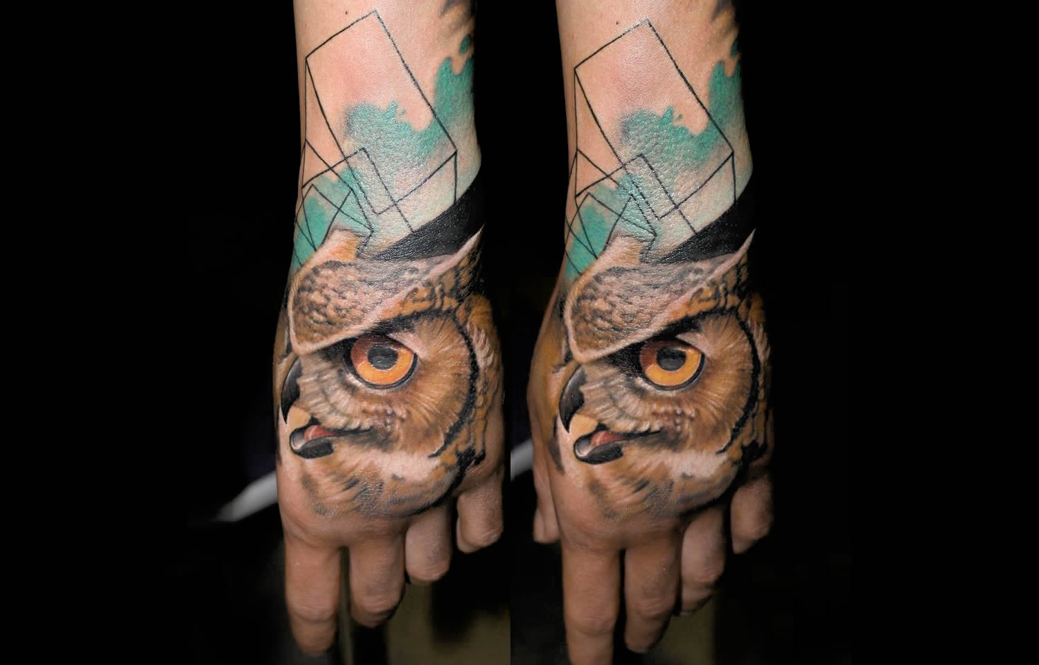owl (hand) tattoo by dave paulo