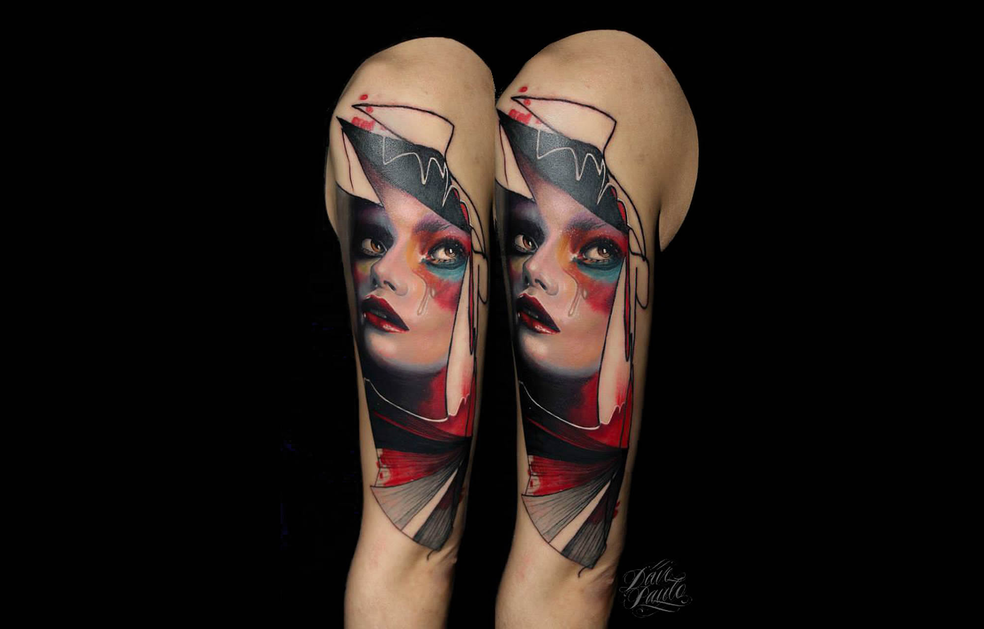 Modern Portrait Tattoos by Dave Paulo