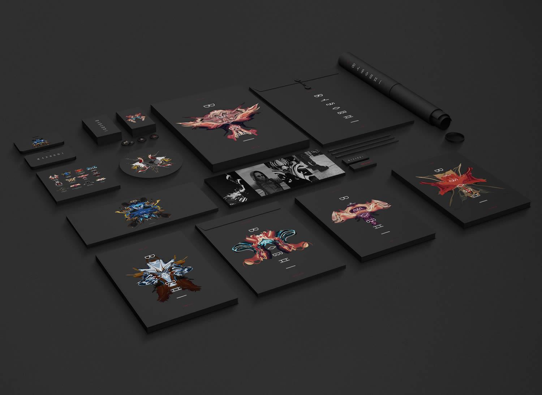 """print design, """"Reflect""""_Dynamic Dynamic brand identity by Afeef Zubaer"""