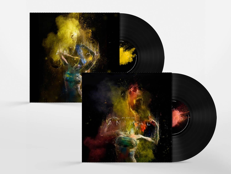 paint splash album cover, We Set Sail by Chris Slabber