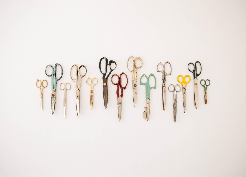 scissors line up