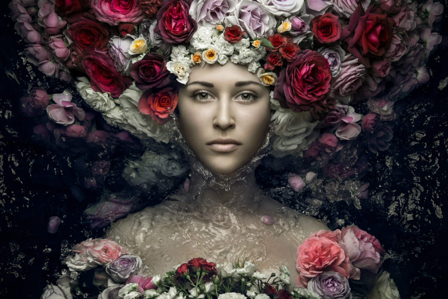 evgeni kolesnik photography surreal portraits ukraine flowers roses