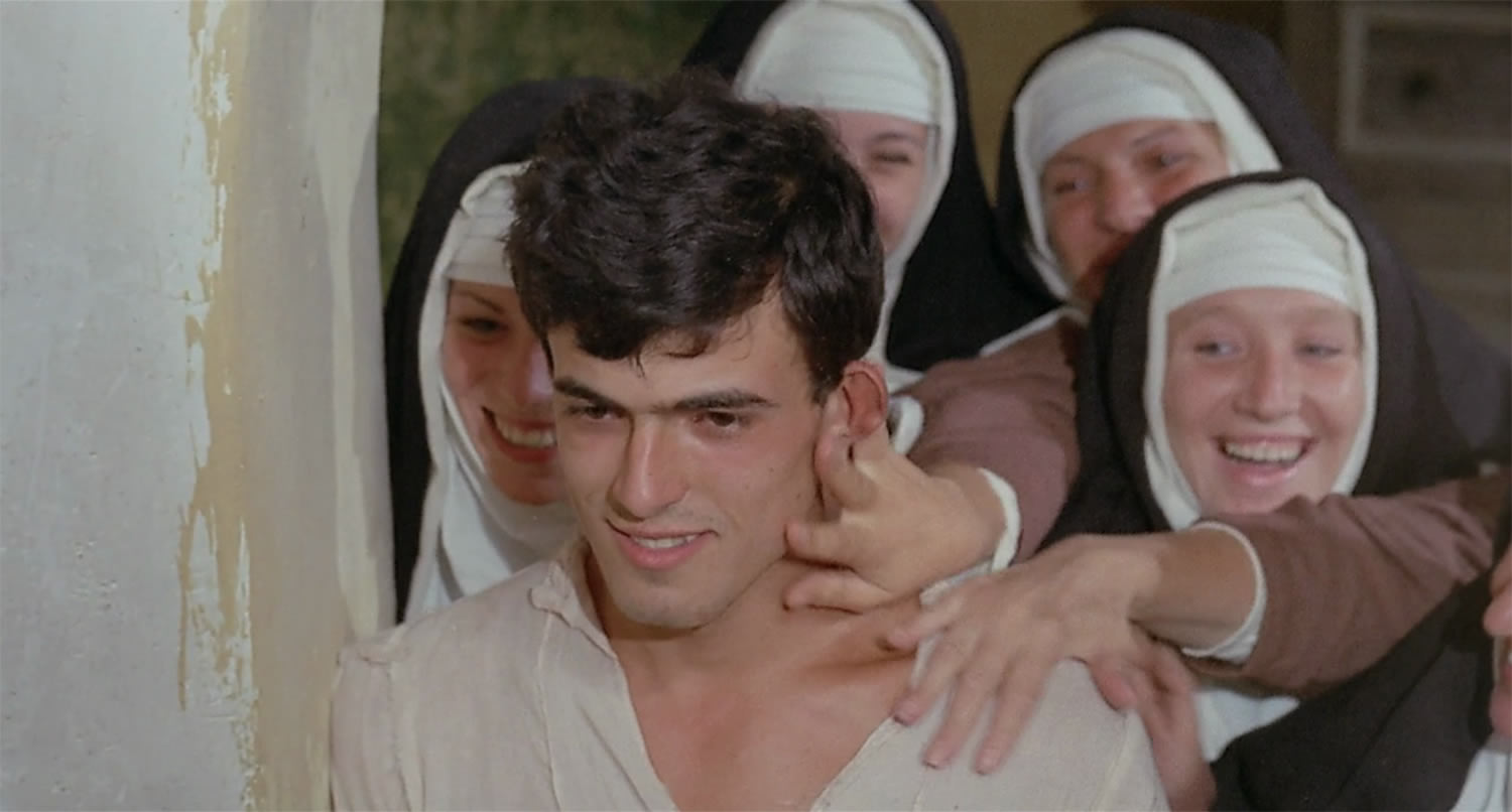the decaremon film, man and nuns