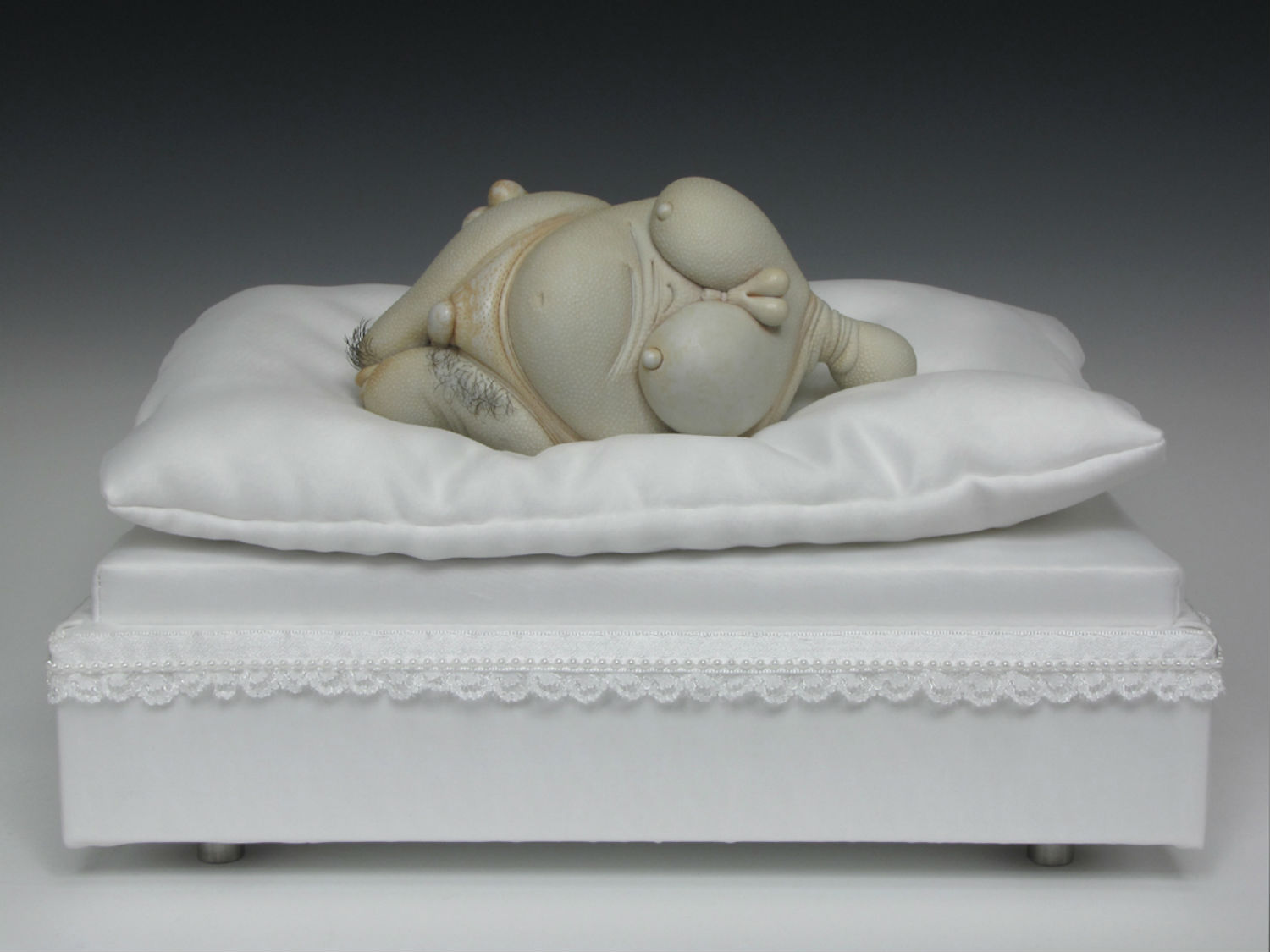 jason briggs sculpture grotesque nude erotic bed