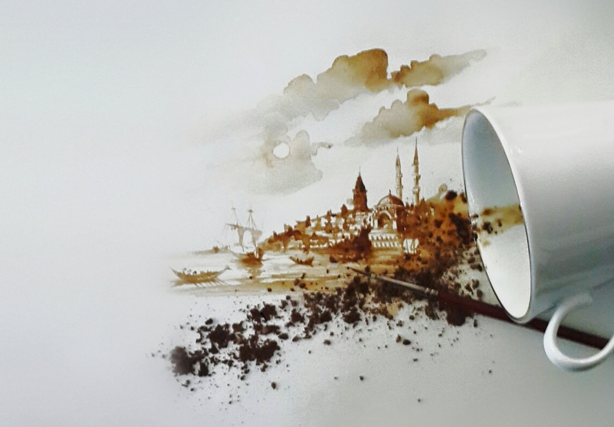 coffee art by hasan kale