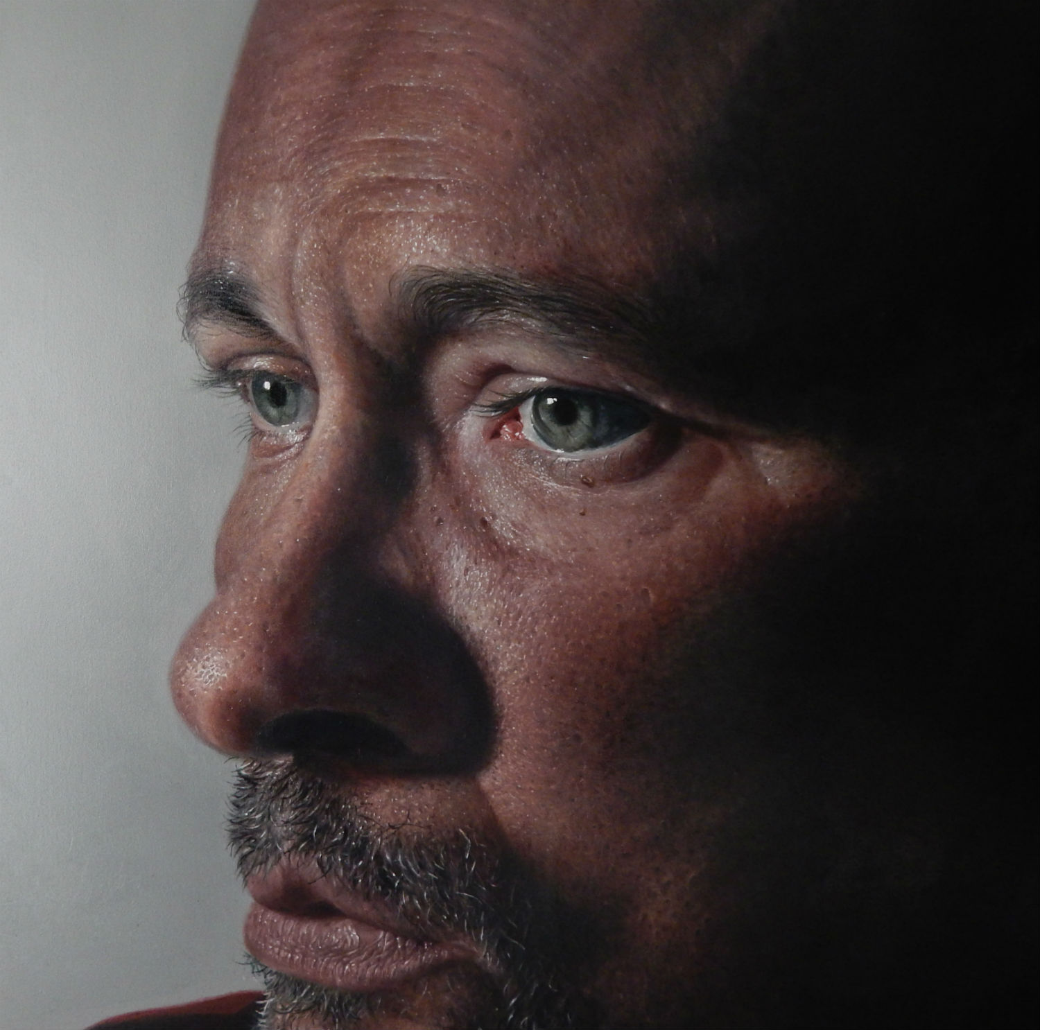 kit king new work hyper realist painting portrait