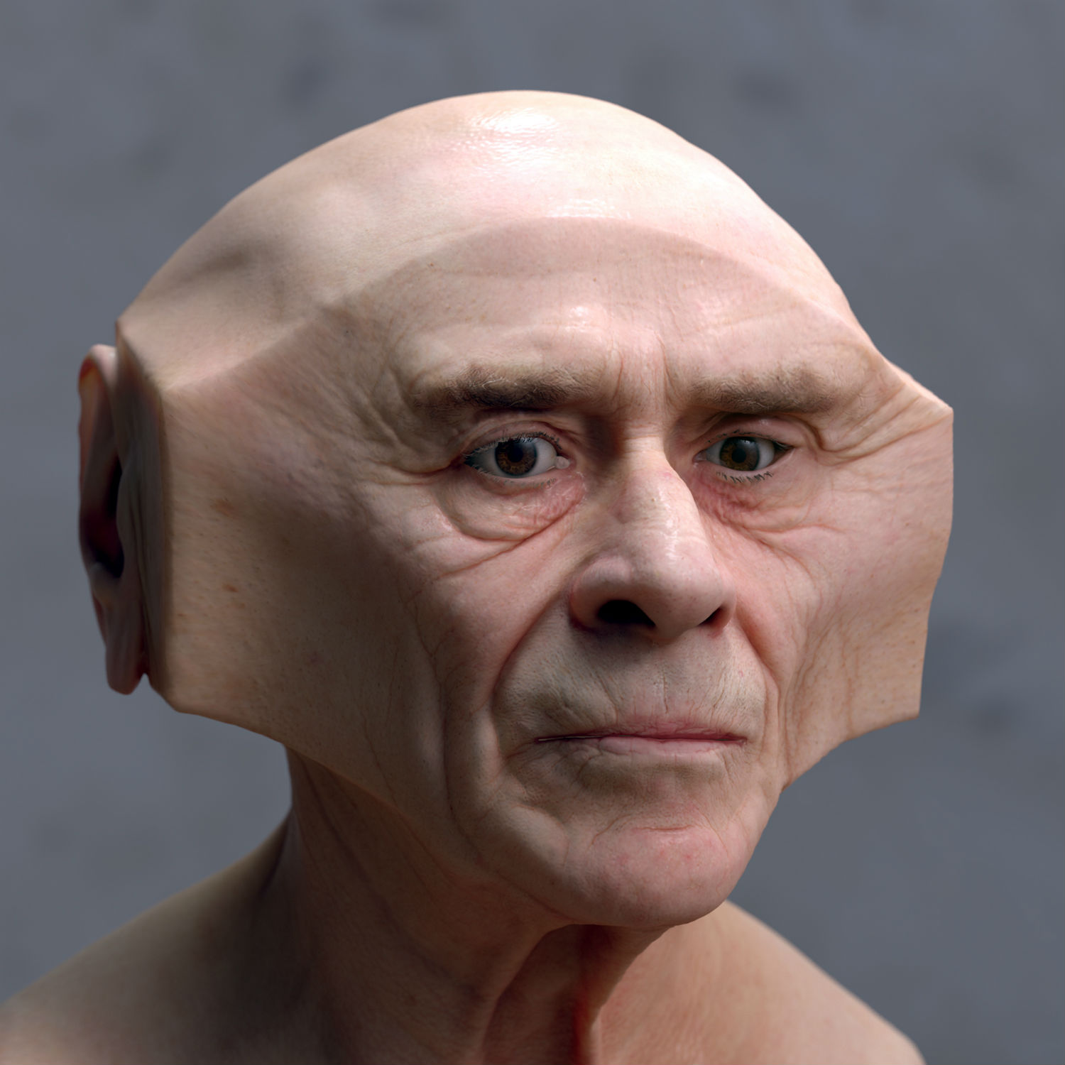 lee griggs deformations digital sculpture strange portrait skin body face