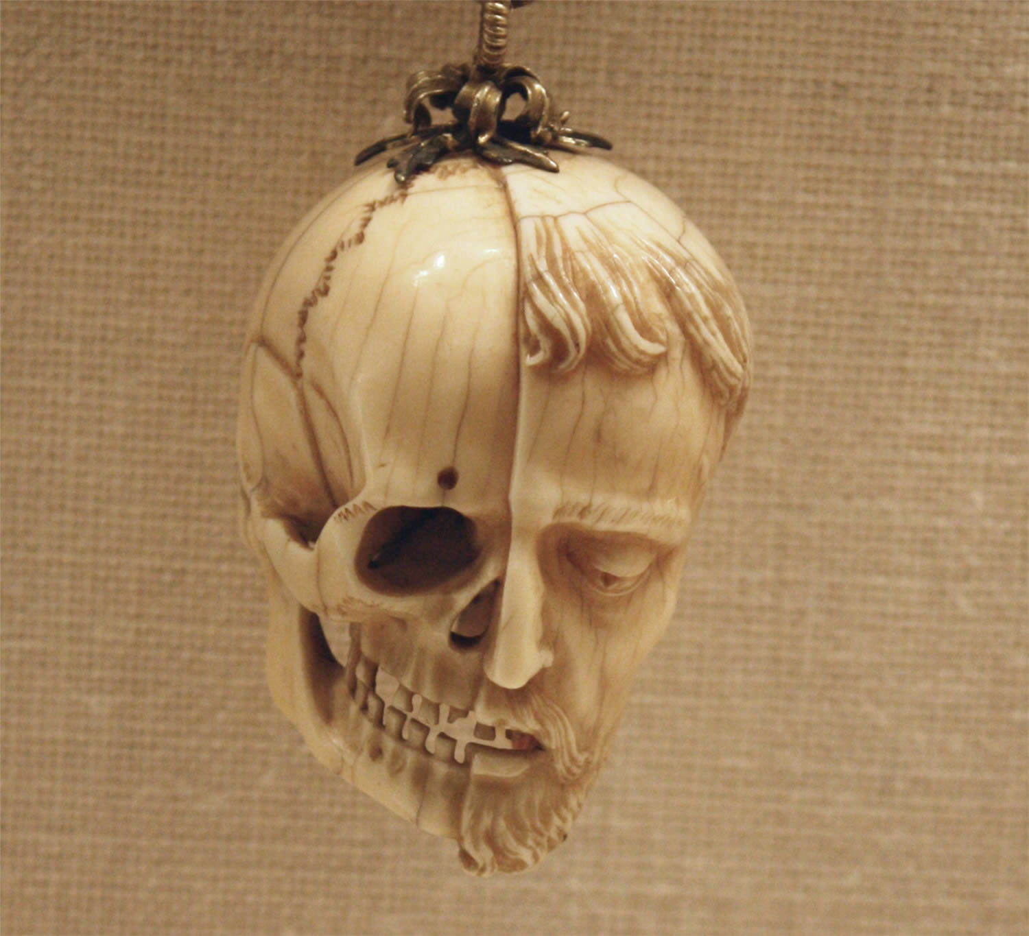 Memento Mori on Rosary  from the early 16th Century, ivory carving, the Metropolitan Museum of Art, New York City
