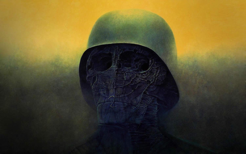 soldier of death by Zdizslaw Beksinski