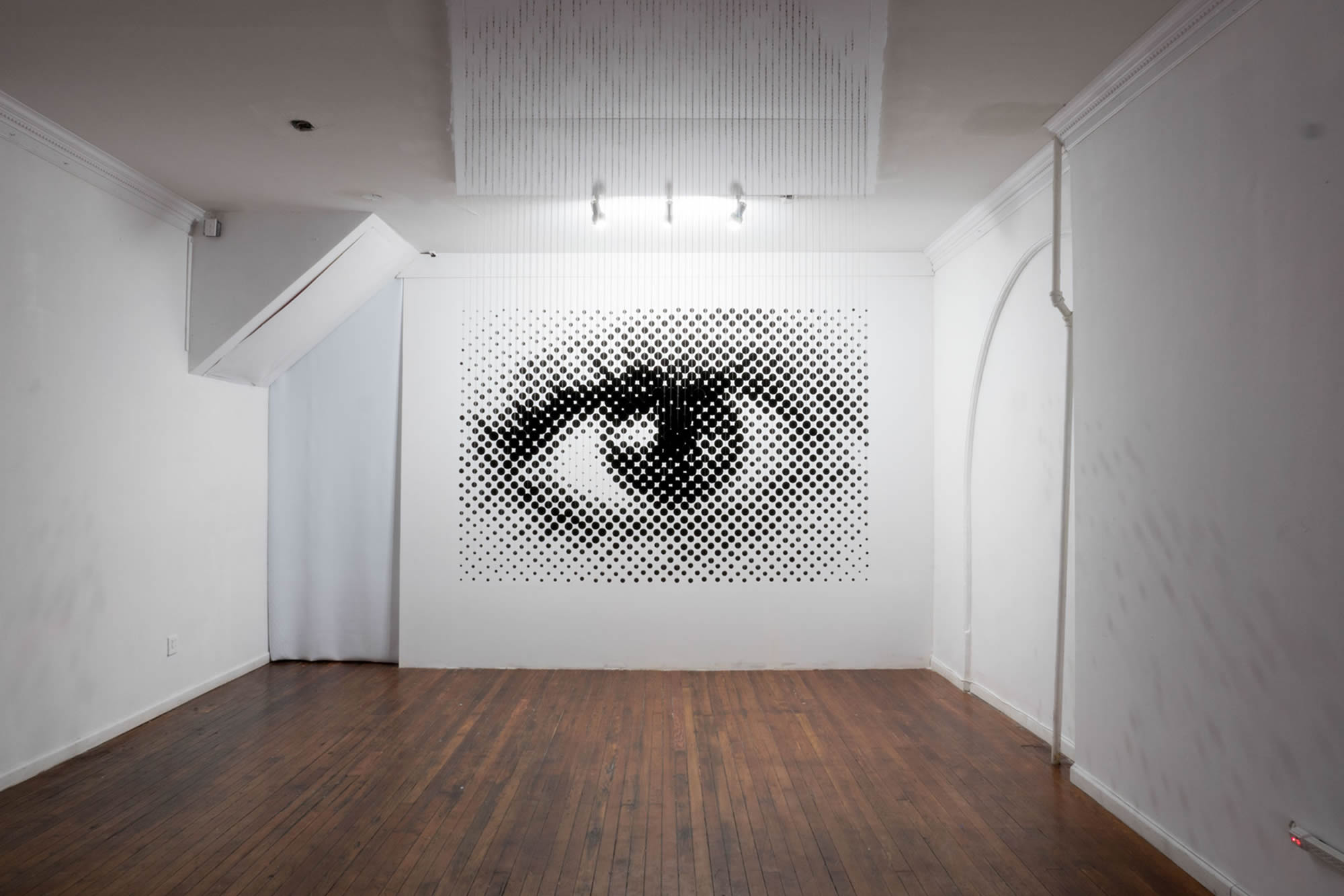 eye at far,  anamorphic illusion