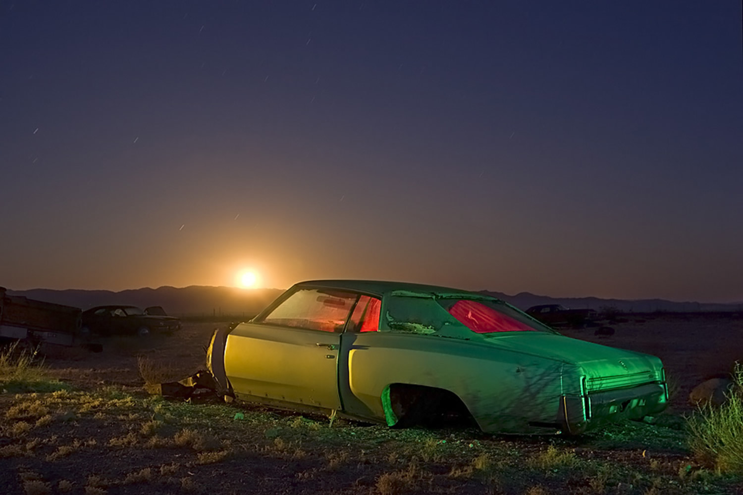 troy paiva night photography neon car