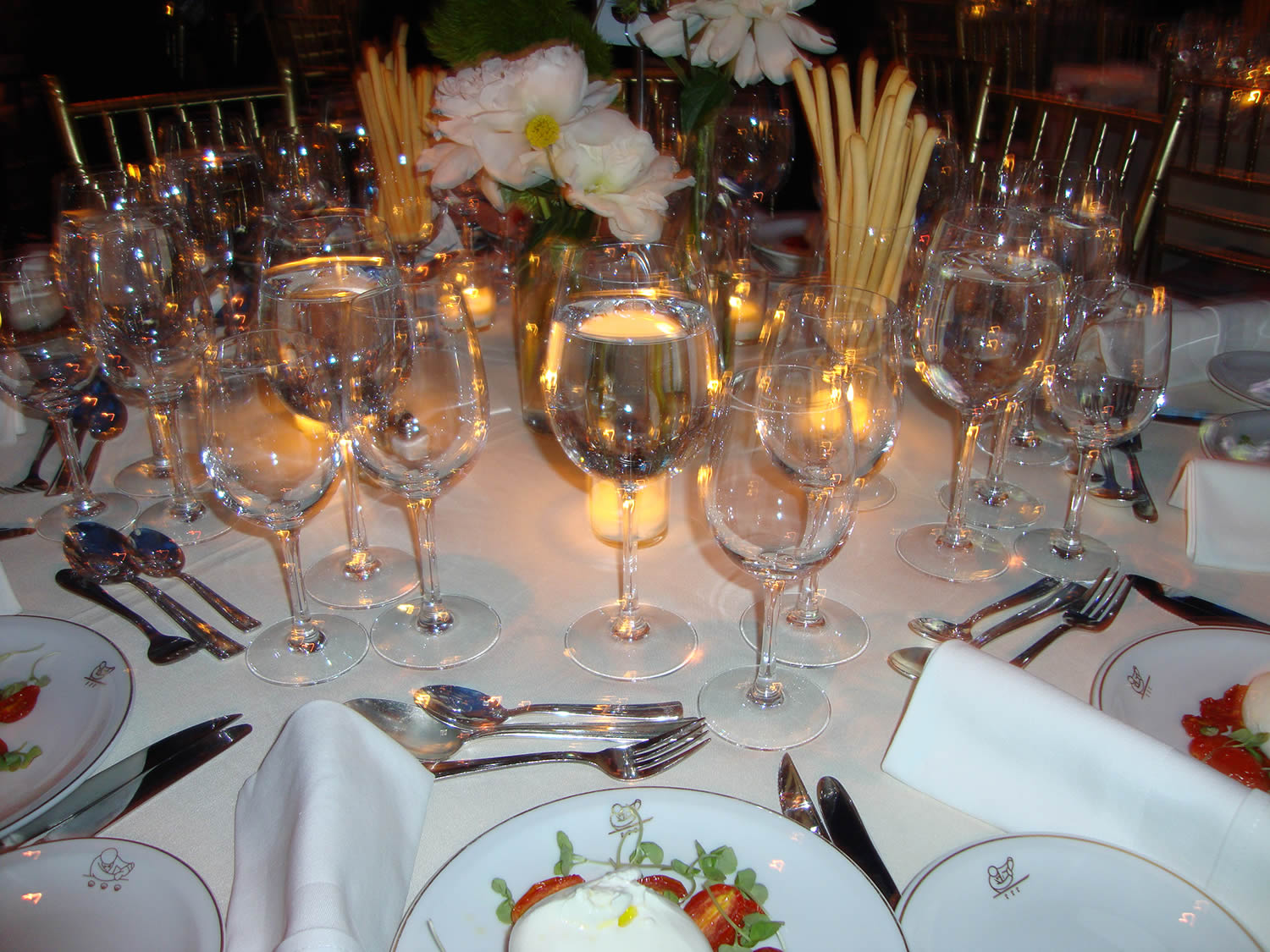 dinner table at the webby awards