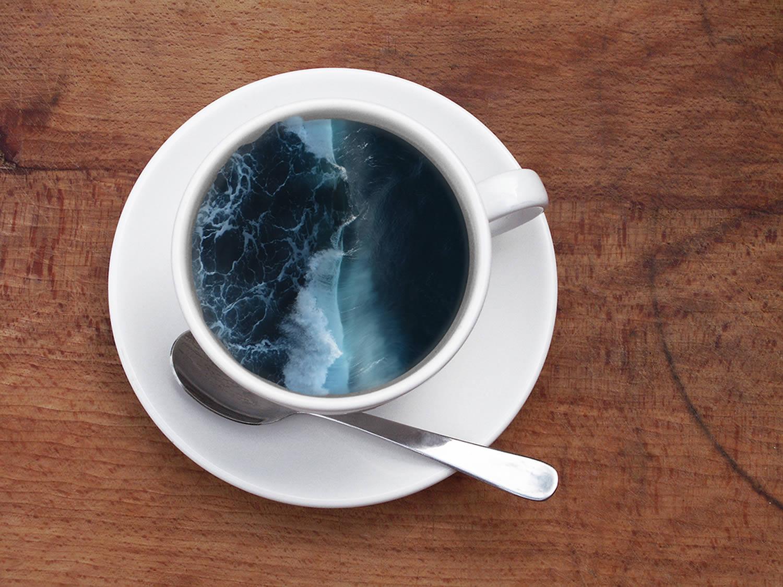 the sea in a cup, digital art