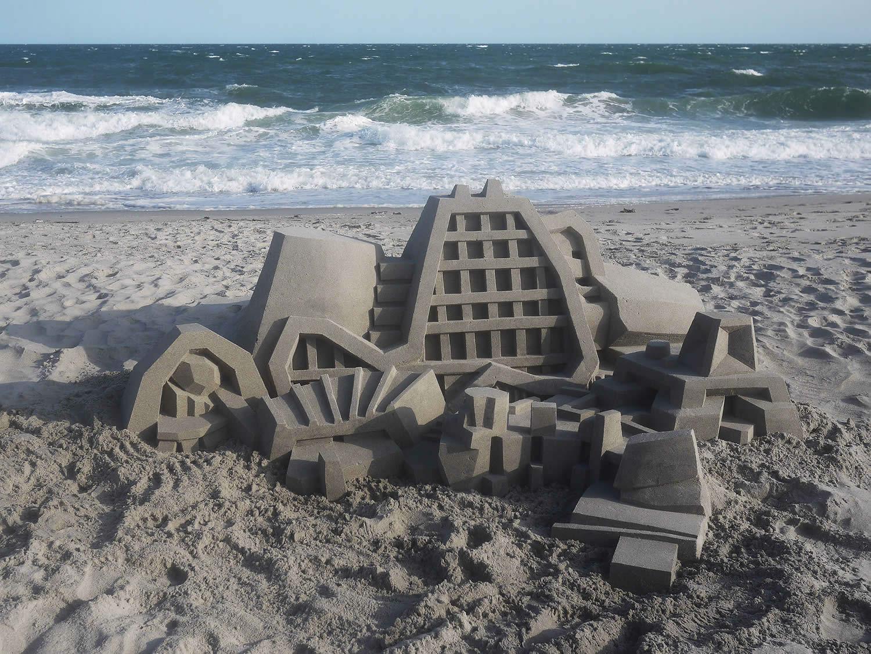 modern museum castle sand
