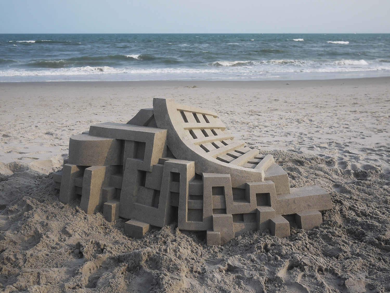 calvin seibert sand castle, at the beach