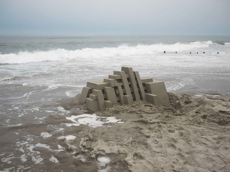calvin seibert geometric sand castle