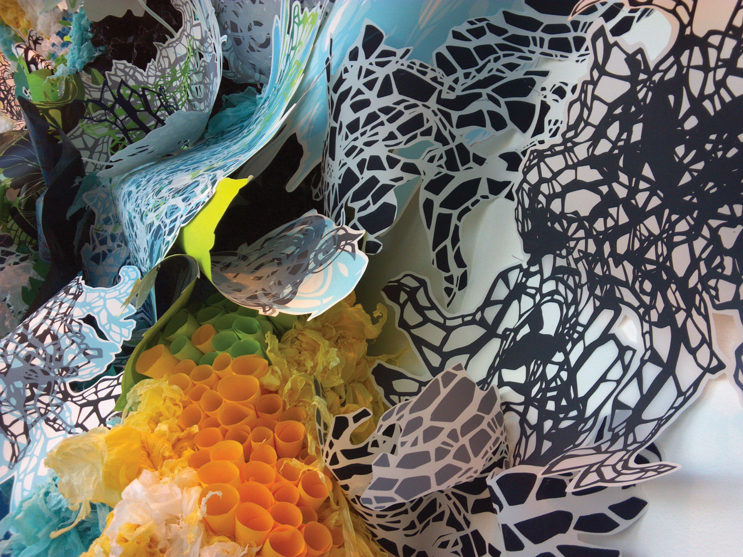 crystal wagner artist colourful paper sculptures