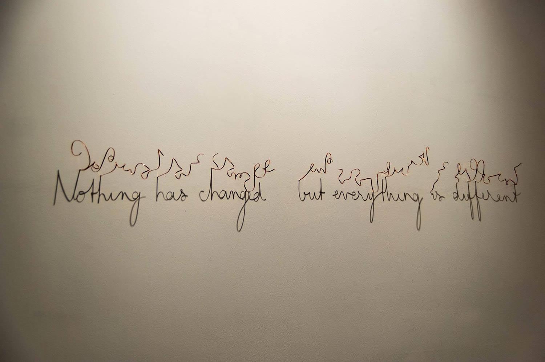 writing on wall, shadow art by fred eerdekens
