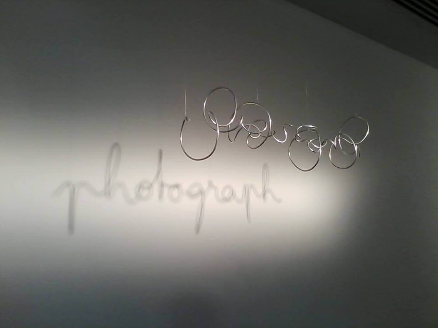 the word photograph on wall, fred eerdekens