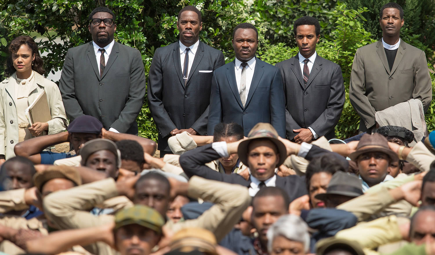 men in blue suits in movie selma