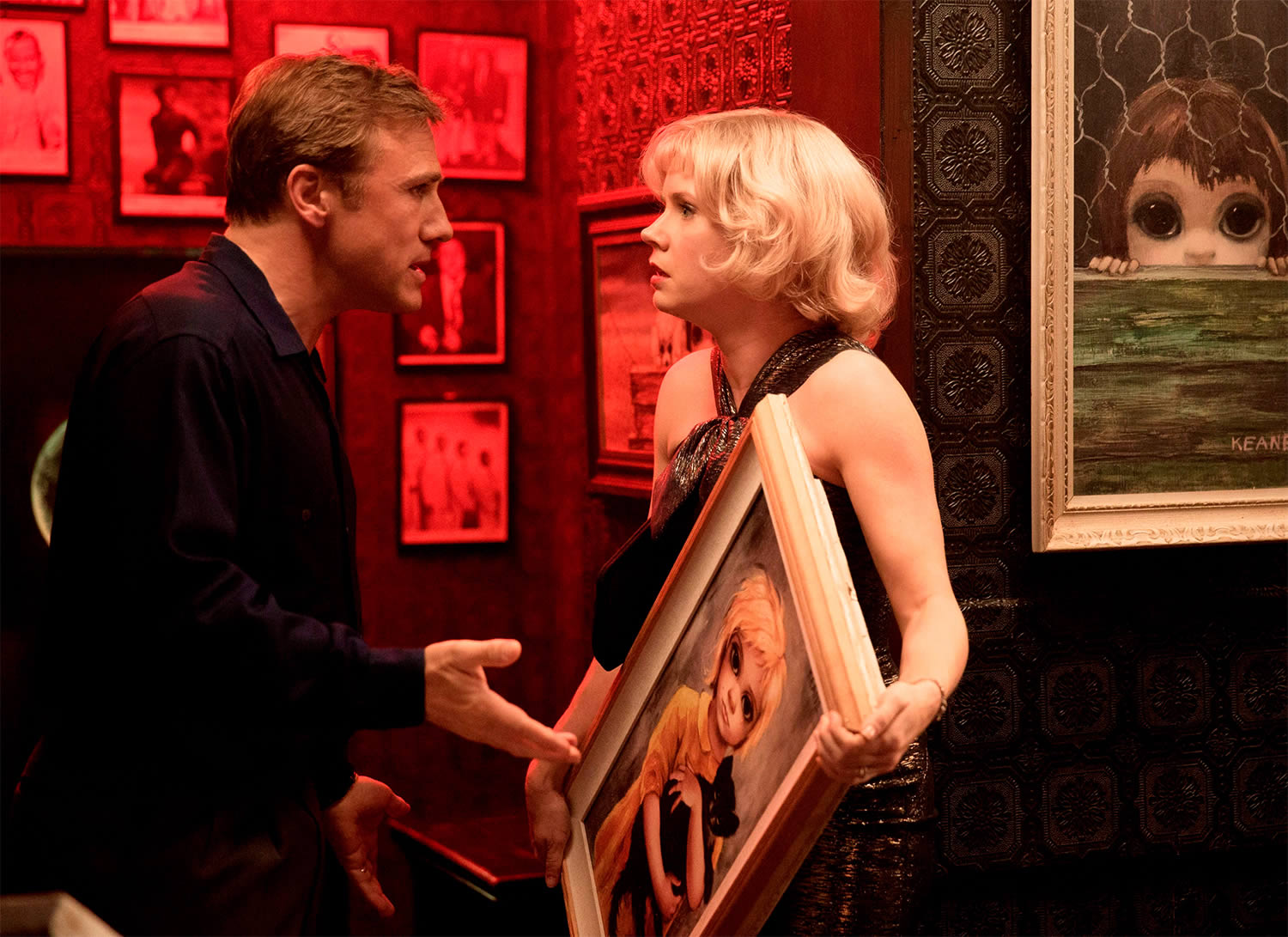 fighting over a painting in tim burton's big eyes