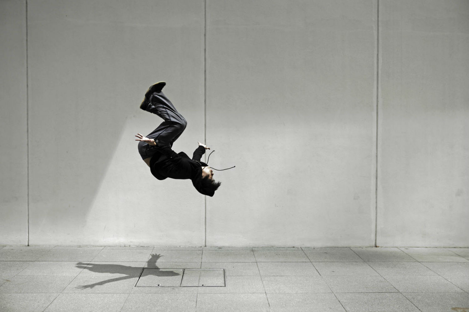 minimalist photography peter lay street dancing mid air