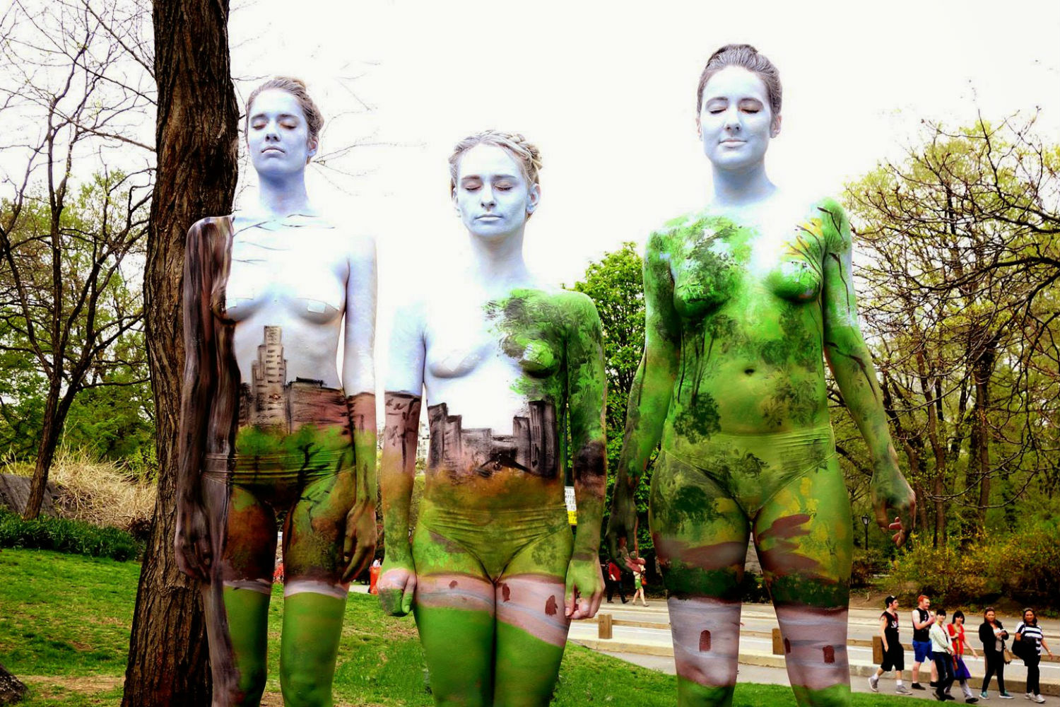 natalie fletcher body paint landscape portrait