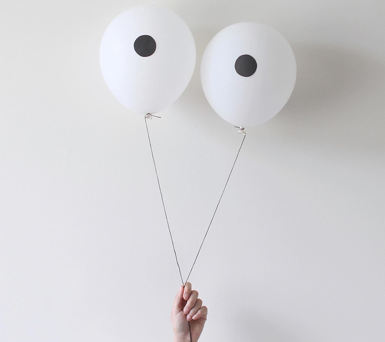 goofy eye balloons, Peechaya Burroughs