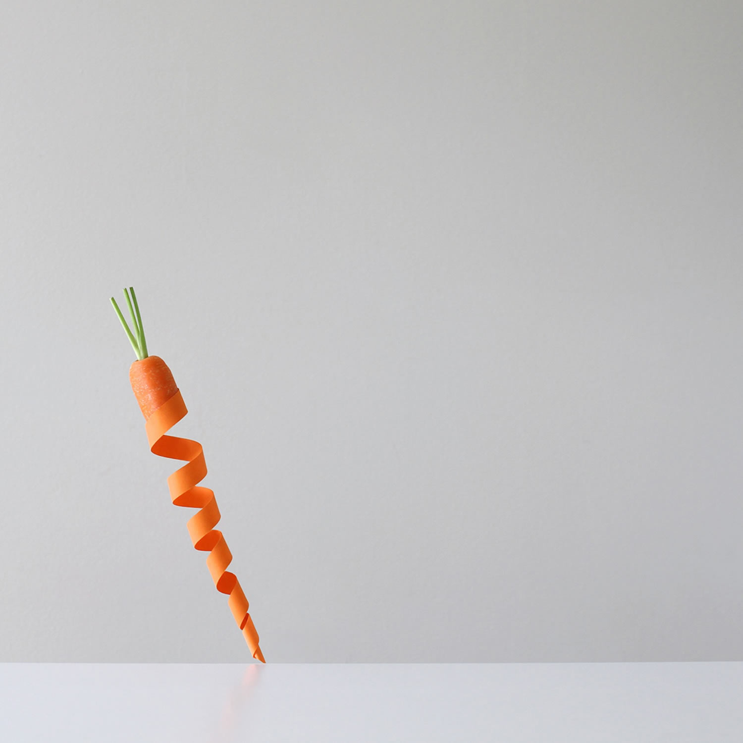 paper roll carrot, photo by Peechaya Burroughs