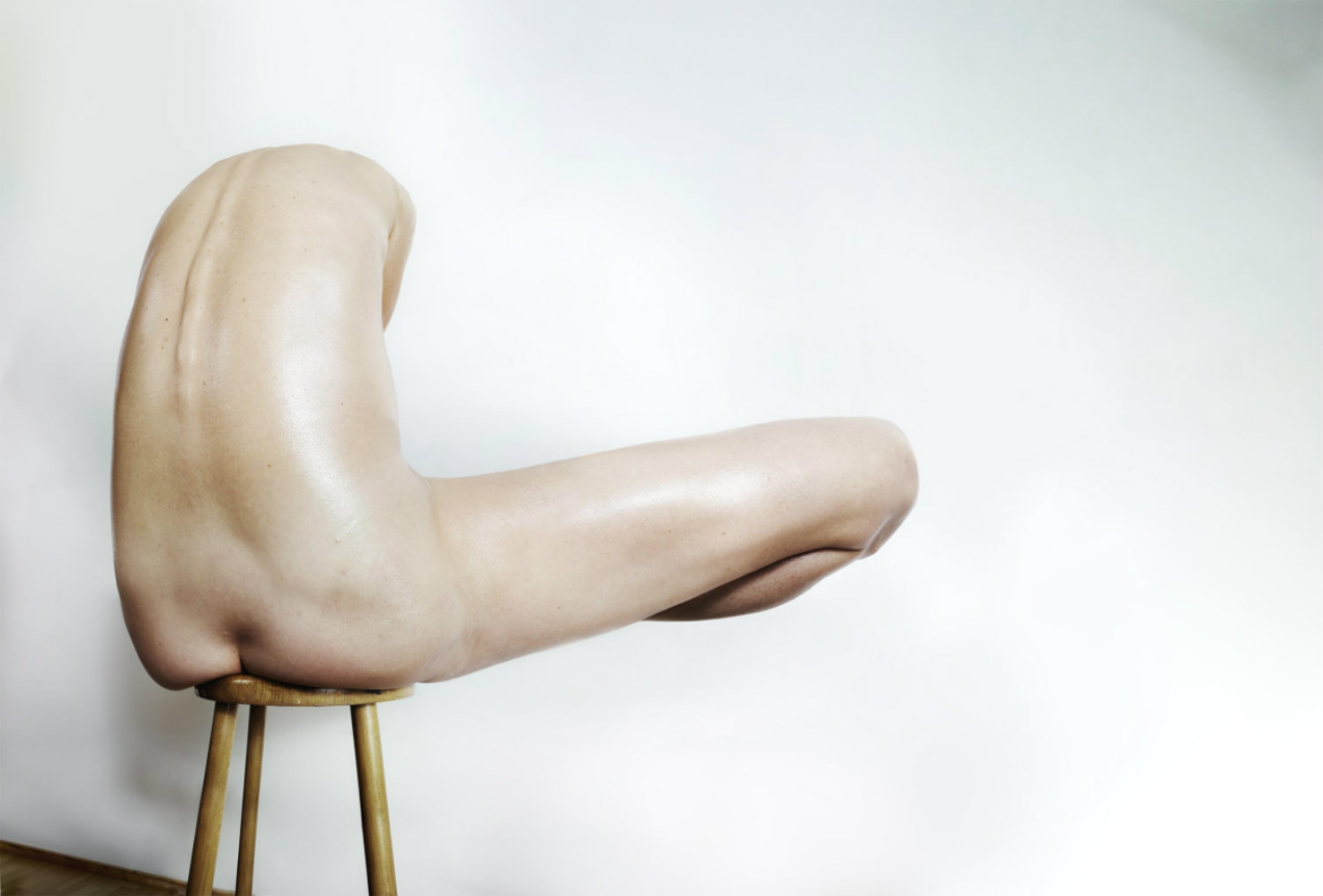 Full Isolated Studio Picture Young Naked Stock Photo
