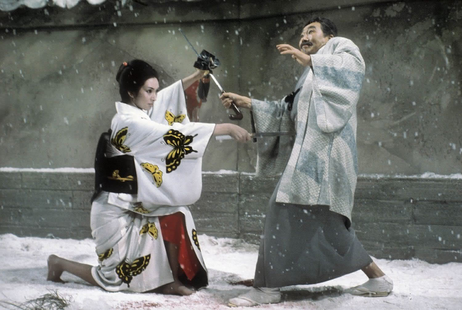 Lady Snow blood 1973, fight scene