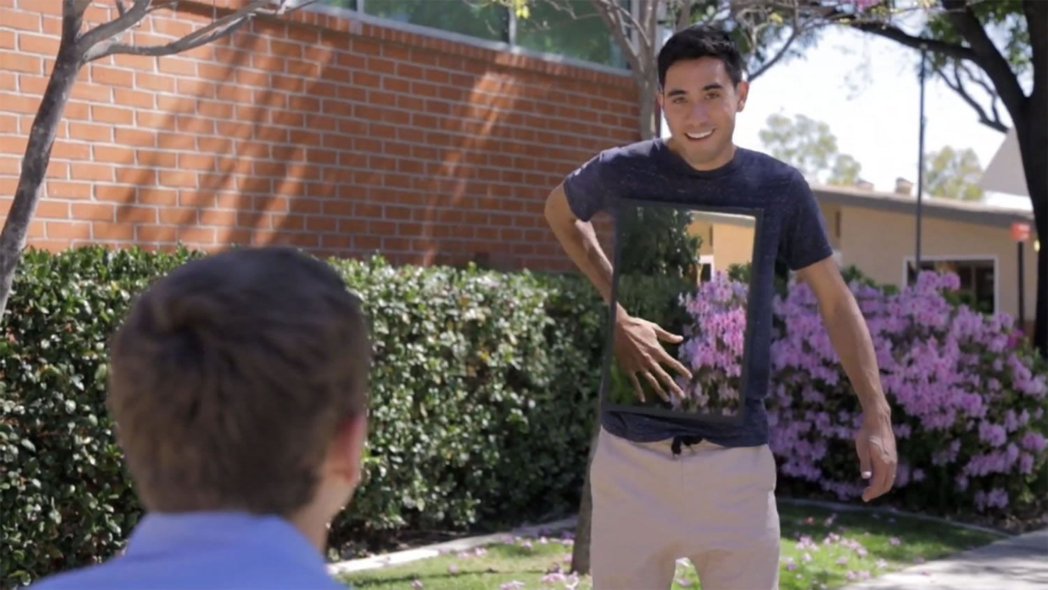 invisible man video, guy on campus by zack king