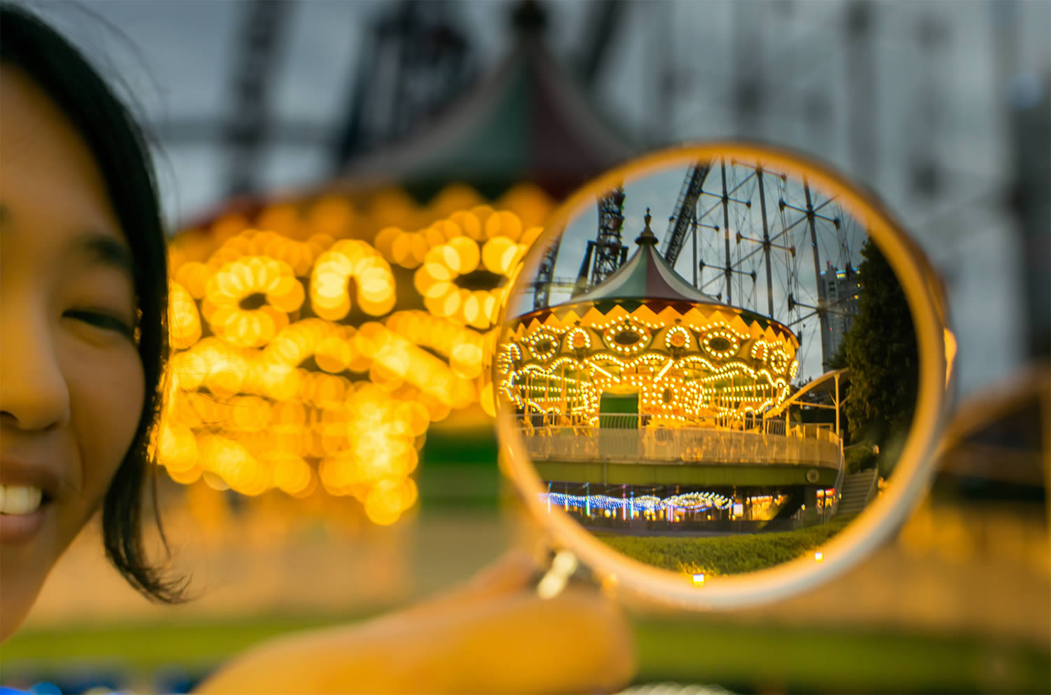 magnify glass, carousel